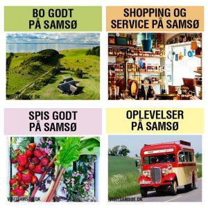 Forsider miniguides visitsamsø 2019
