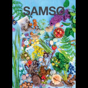 Plakat med motiv af forsiden af Samsø Feriemagasin 2020